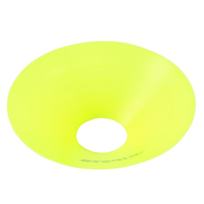 Set de 10 disques plats jaunes fluos - 133745