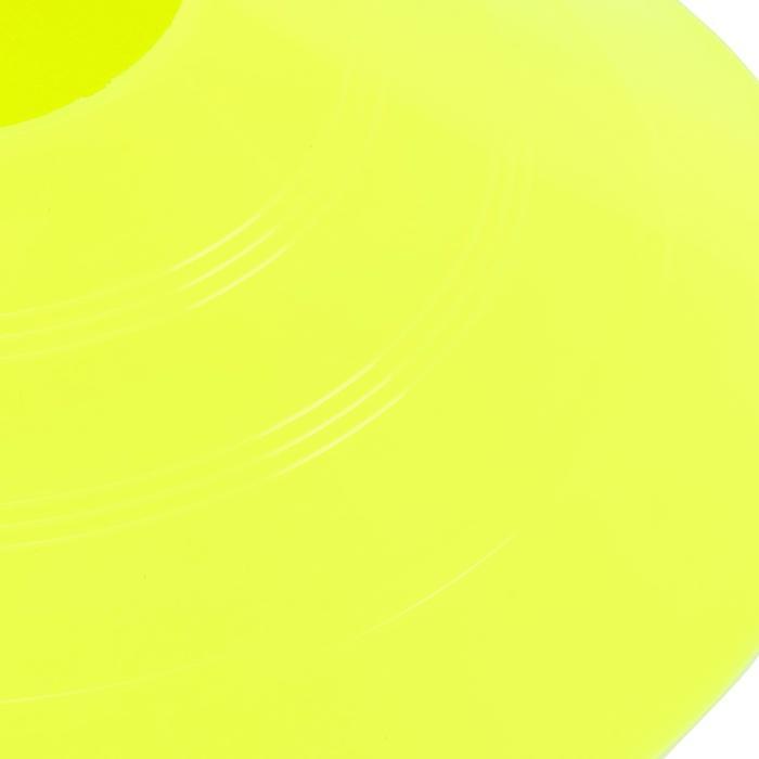 Set de 10 disques plats jaunes fluos - 133747