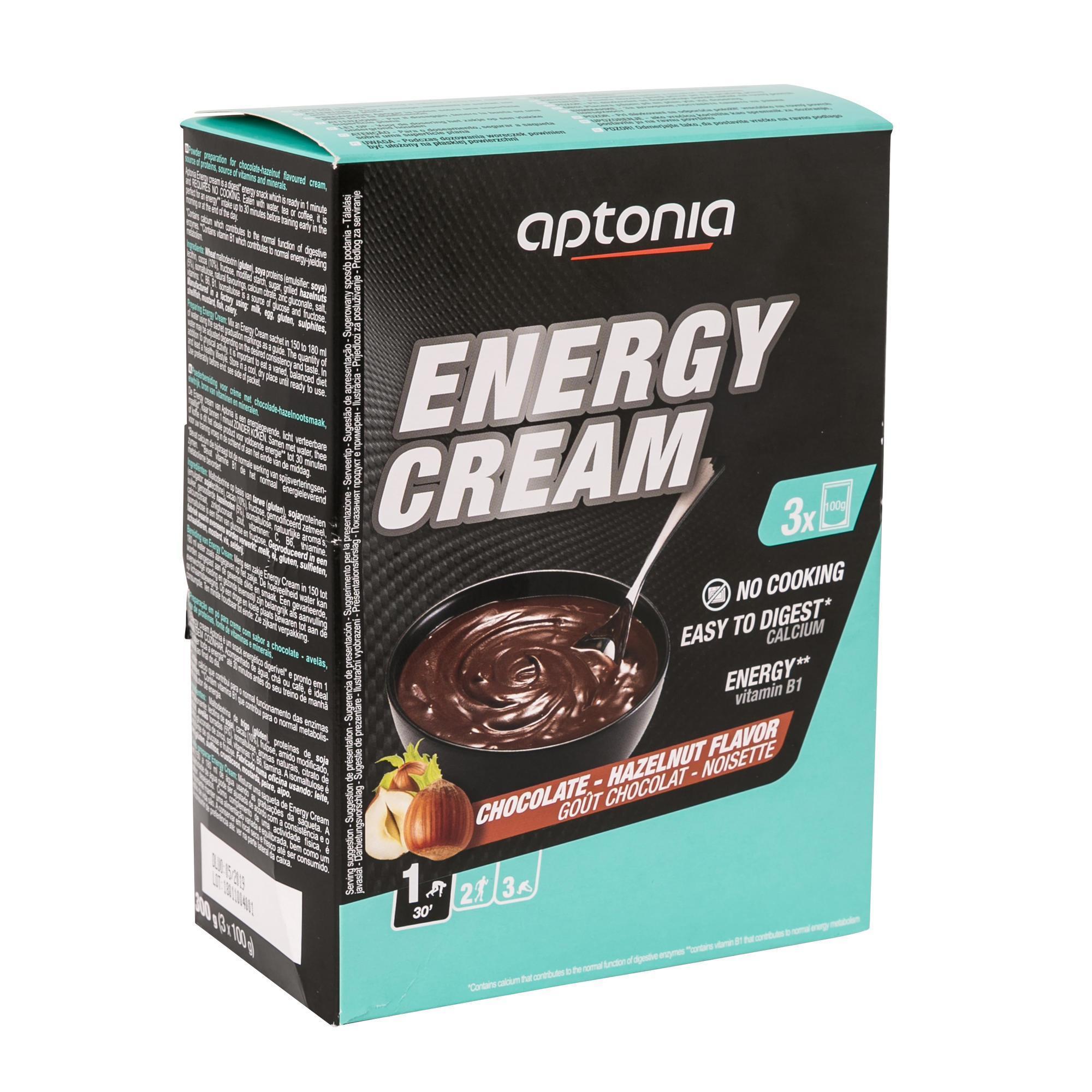 Aptonia Energievla Energy Cream chocolade/hazelnoot 3x100 g
