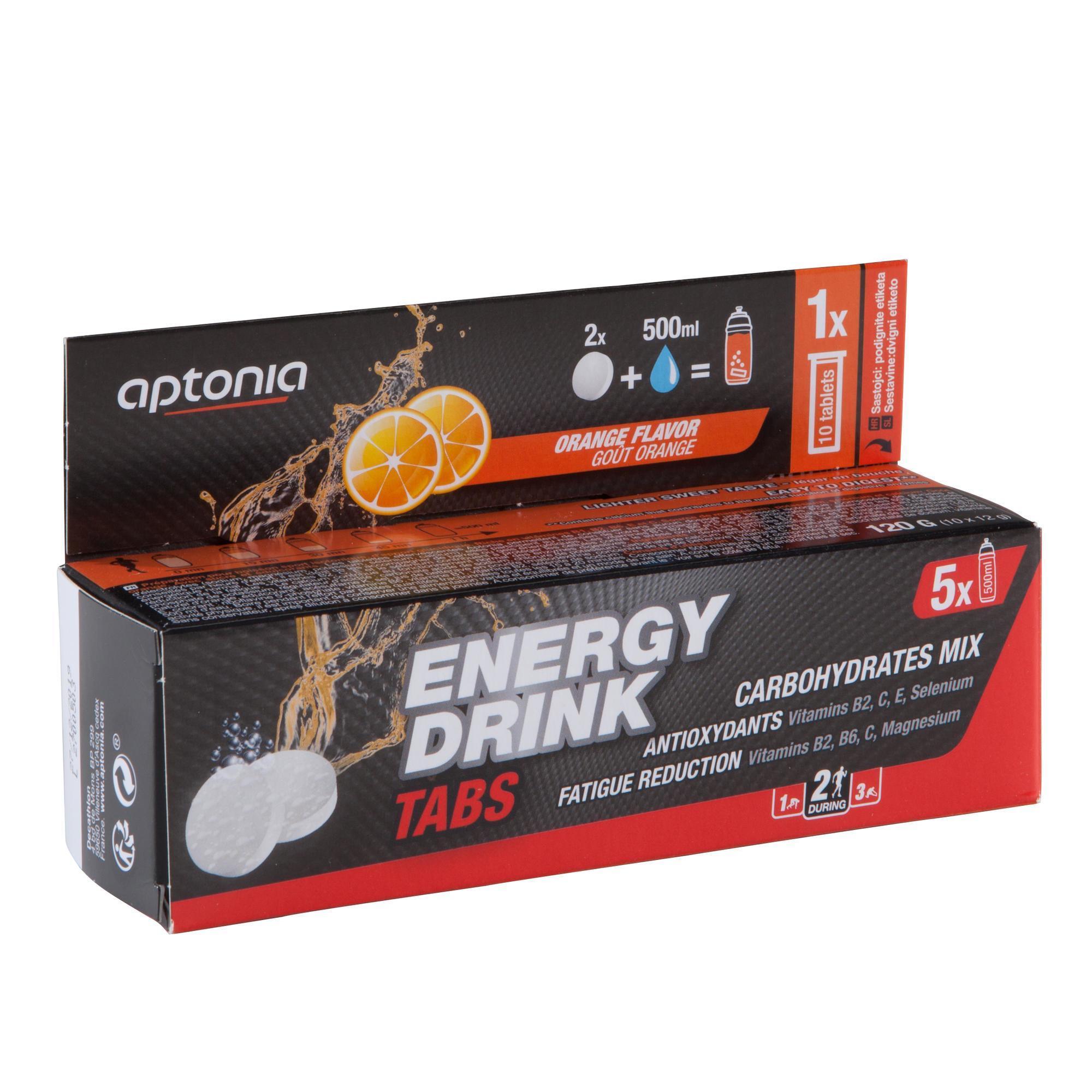 Aptonia Tabletten voor isotone dorstlesser Energy Drink sinaasappel 10x 12 g