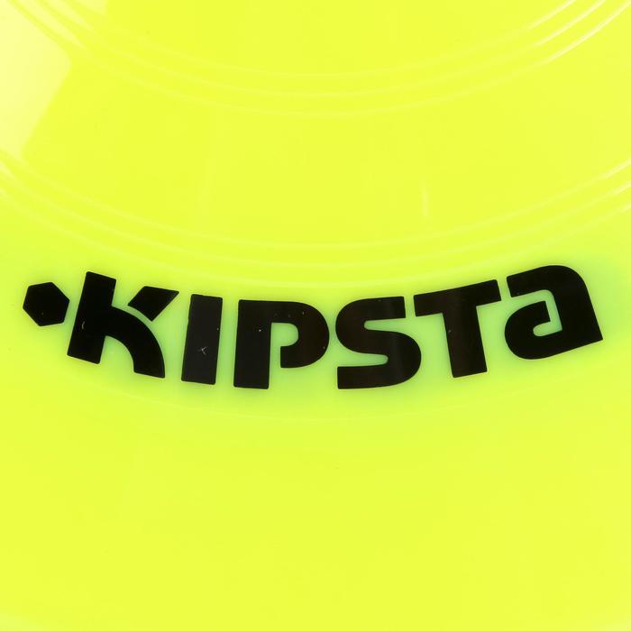 Set de 10 disques plats jaunes fluos - 133750