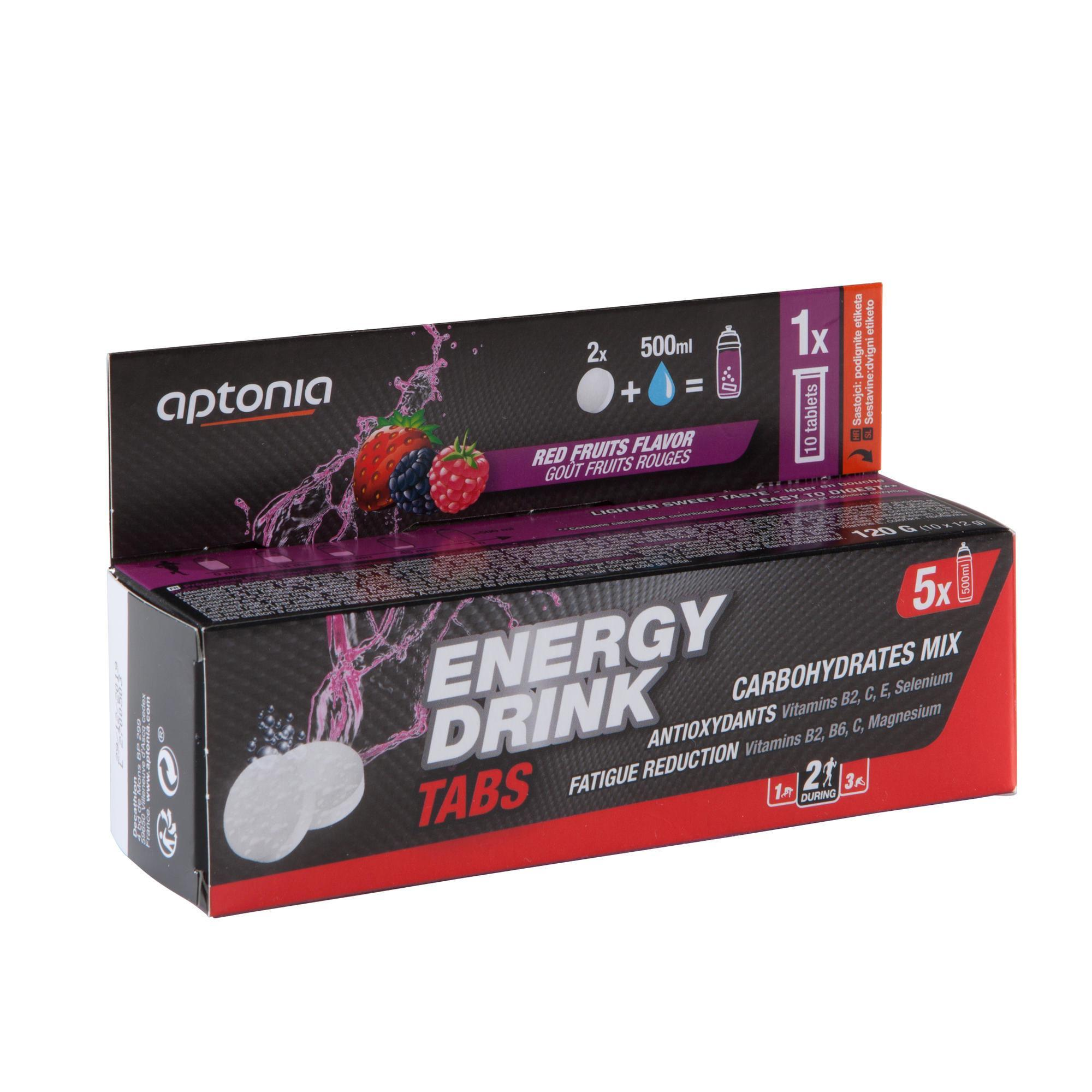 Aptonia Isotone sportdrank Energy Drink tabletten rode vruchten10 x 12 g