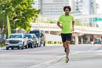 KALENJI DRY+ MEN'S BREATHABLE RUNNING SHORTS - GREY NAVY