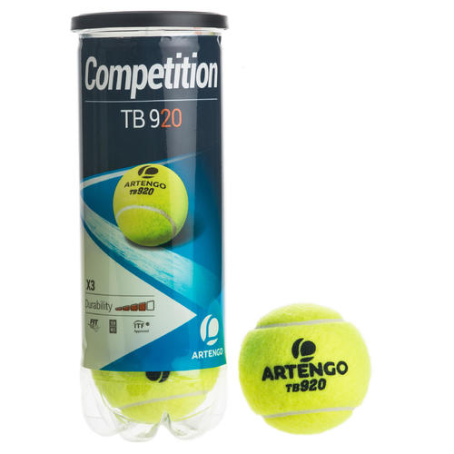 BALLE DE TENNIS COMPETITION TB 920*3 JAUNE