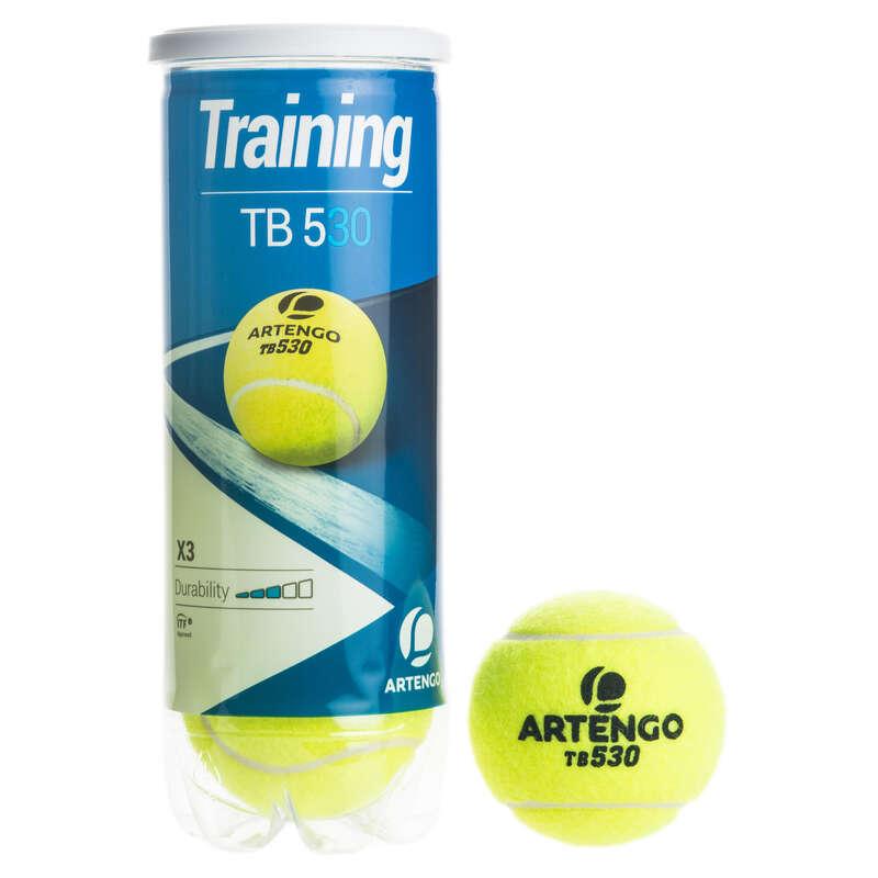 PIŁKI TENISOWE Tenis - Piłka TB530 *3 ŻÓŁTA ARTENGO - Sprzęt do tenisa