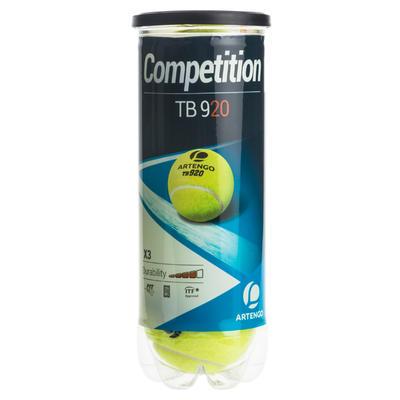 מארז 3 כדורי טניס TB920 - צהוב