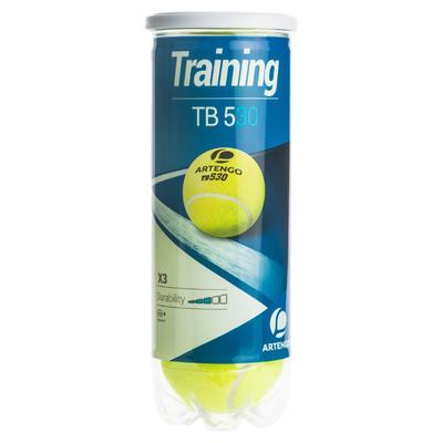 Набір тенісних м'ячів 530, 3 шт. - Жовтий
