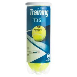 Tennisballen voor training TB530 *3 geel