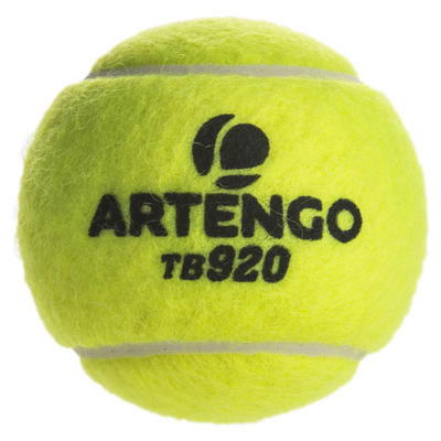 BALLE DE TENNIS COMPETITION TB920 *4 JAUNE