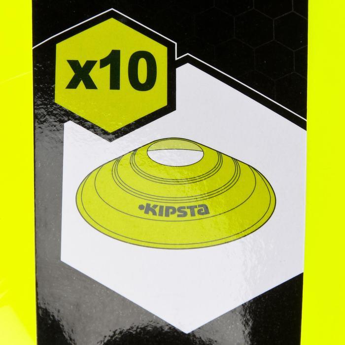 Set de 10 disques plats jaunes fluos - 133757