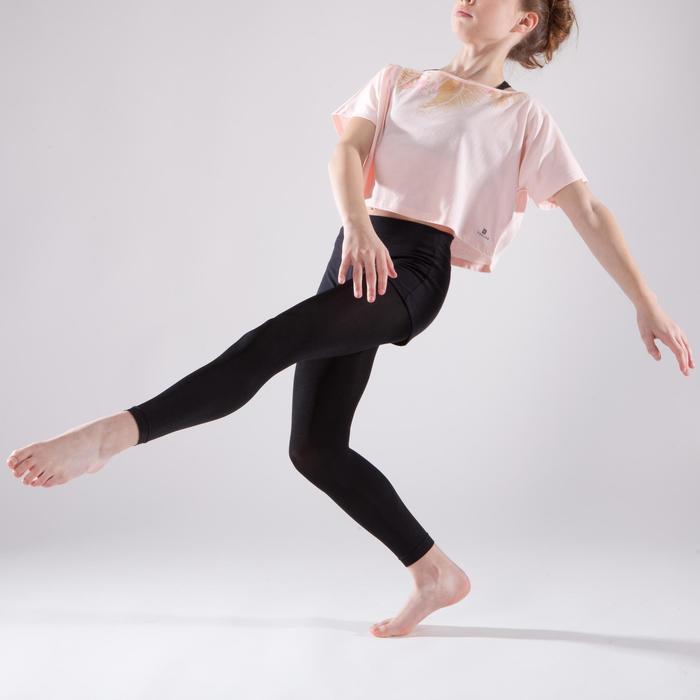 T-shirt danse court et ample manches courtes fille. - 1337591