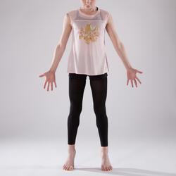 T-shirt manches courtes de danse fille rose pâle
