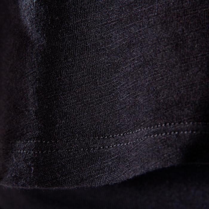 T-shirt manches courtes de danse, court et ample, fille noir - 1337594