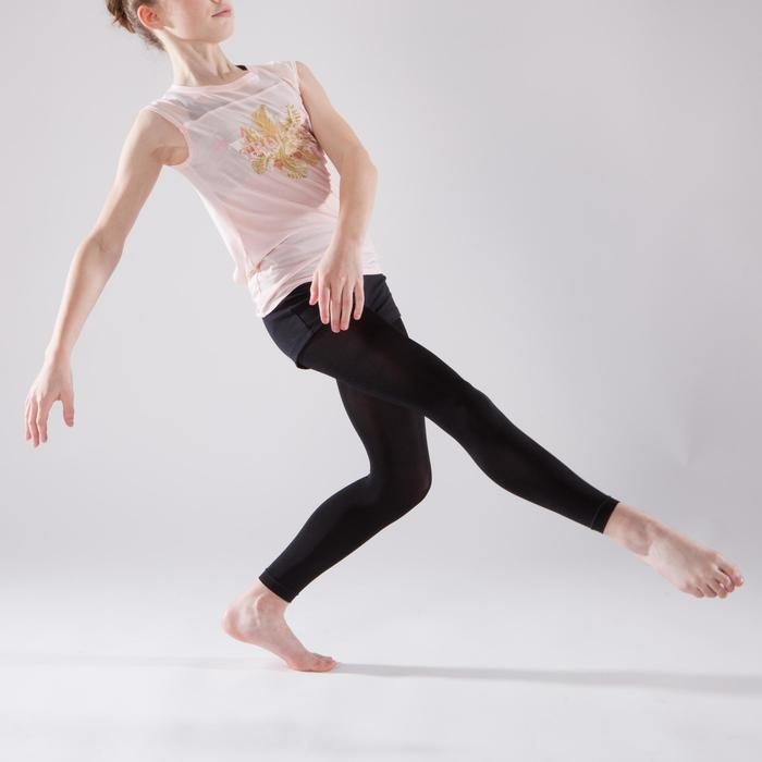 T-shirt manches courtes de danse fille rose pâle - 1337600