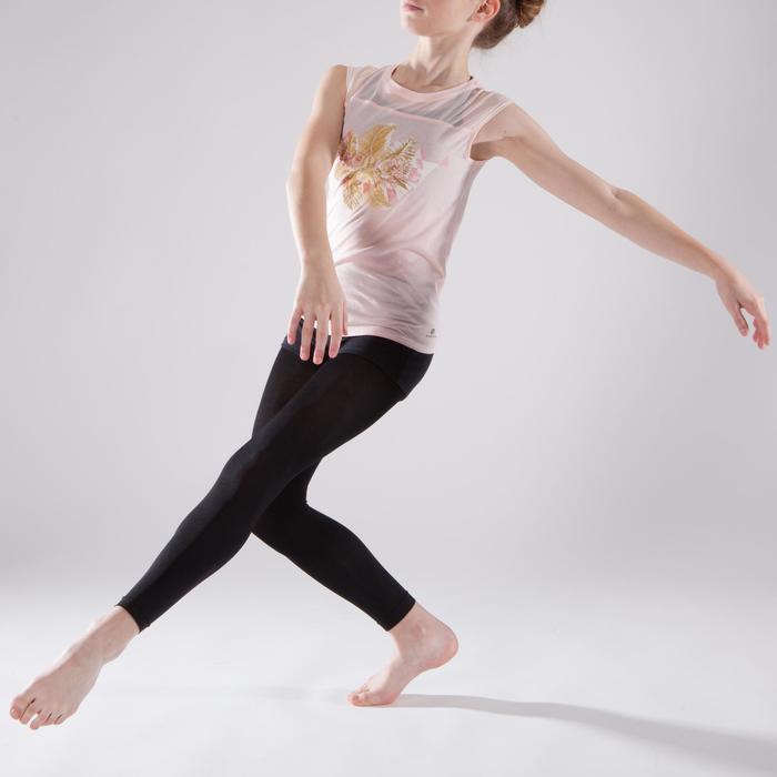 T-shirt manches courtes de danse fille rose pâle - 1337606