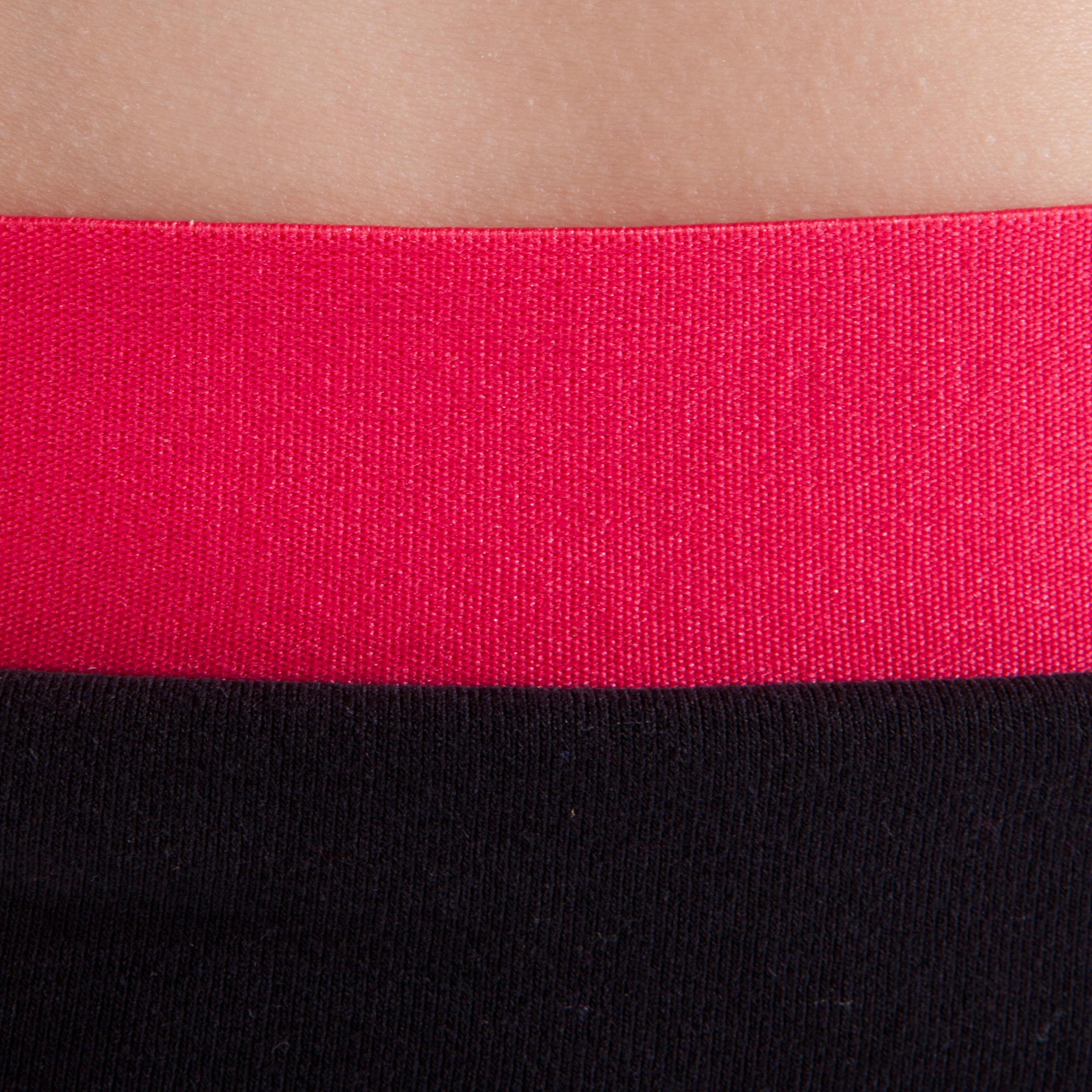 Pantalon de danse taille et bas de jambe élastique fille noir