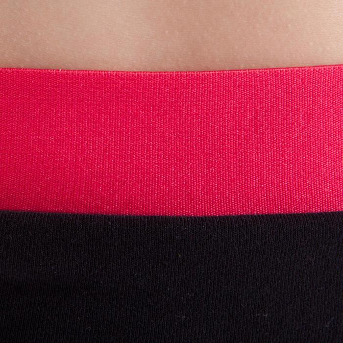 Pantalon de danse taille et bas de jambe élastiqués fille noir - 1337611