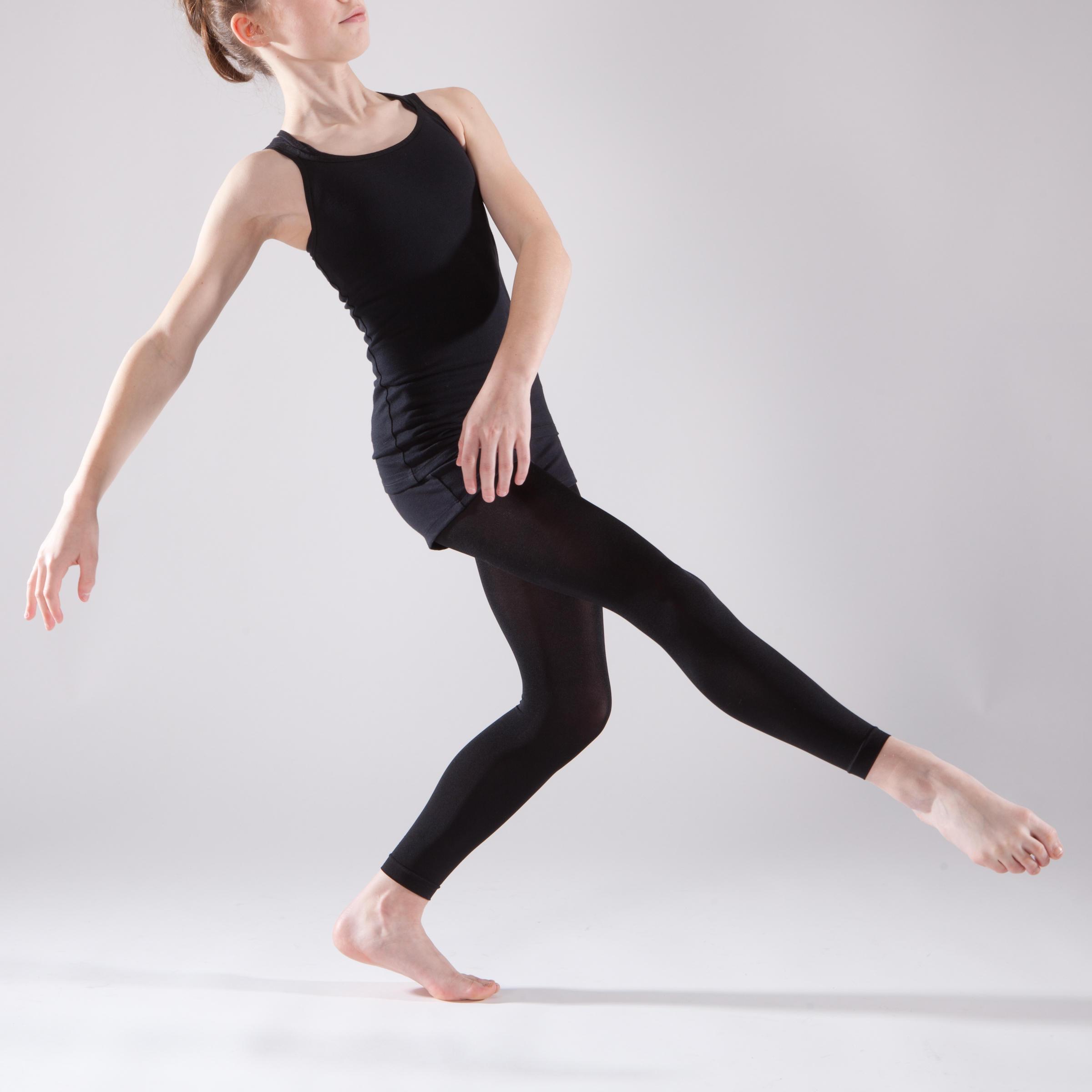 Tunique de danse à doubles bretelles fille noire