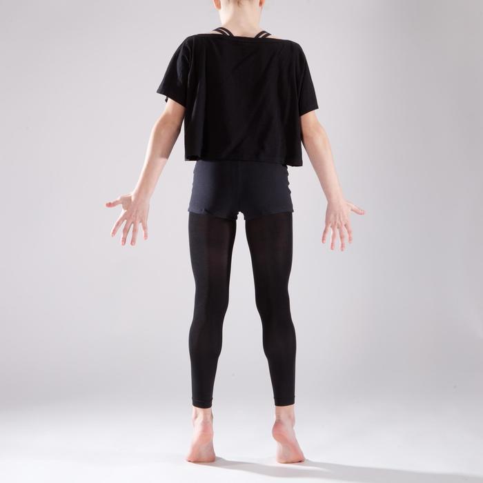 T-shirt manches courtes de danse, court et ample, fille noir - 1337621