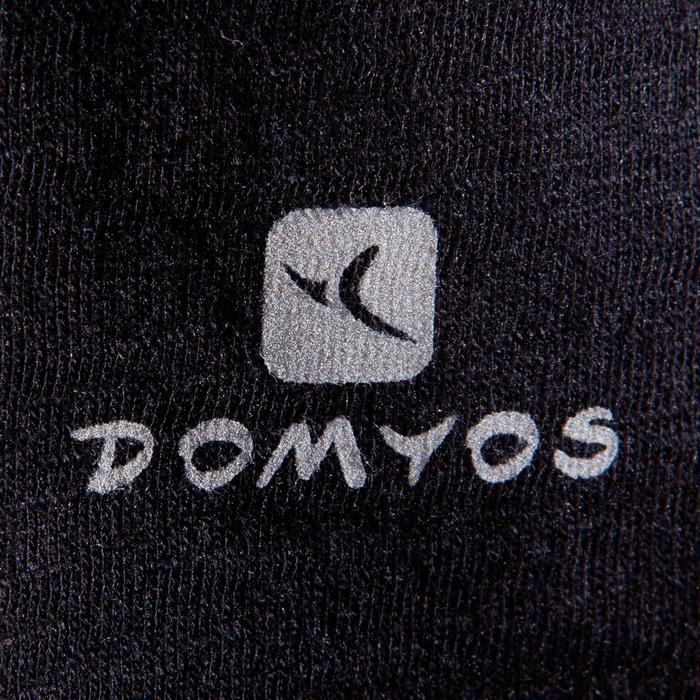 T-shirt manches courtes de danse, court et ample, fille noir - 1337622