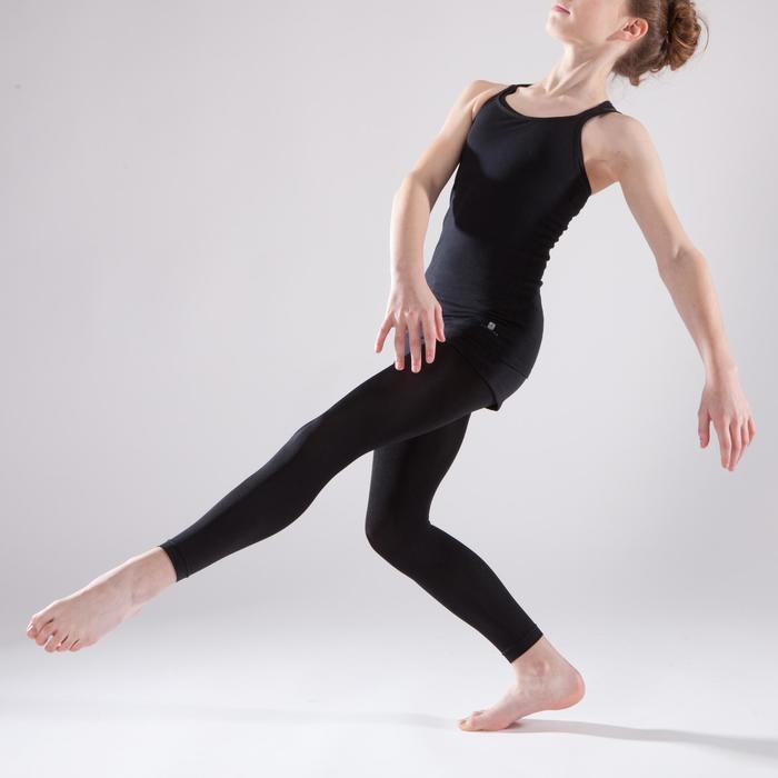 Tunique de danse à doubles bretelles fille noire - 1337625