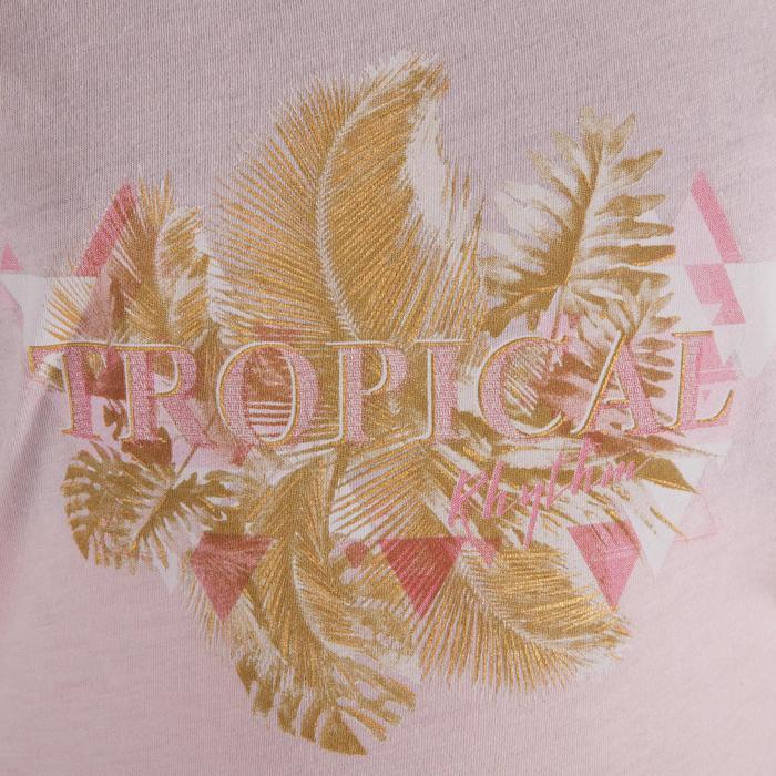 T-shirt manches courtes de danse fille rose pâle - 1337627