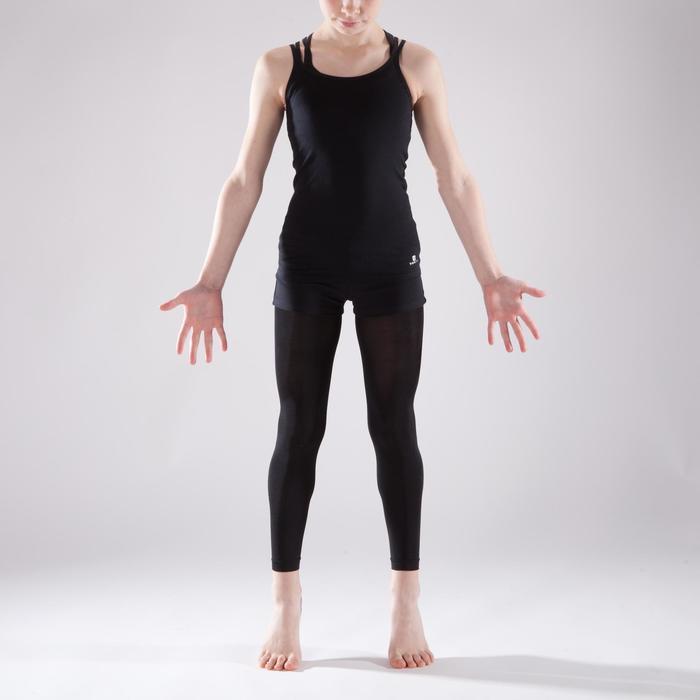Tunique de danse à doubles bretelles fille noire - 1337630