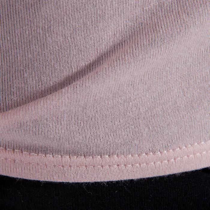 T-shirt manches courtes de danse fille rose pâle - 1337631