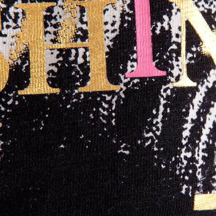T-shirt manches courtes de danse, court et ample, fille noir - 1337634