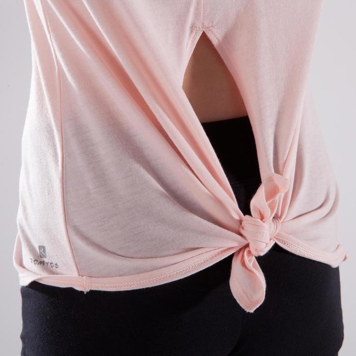 T-shirt manches courtes de danse fille rose pâle - 1337638