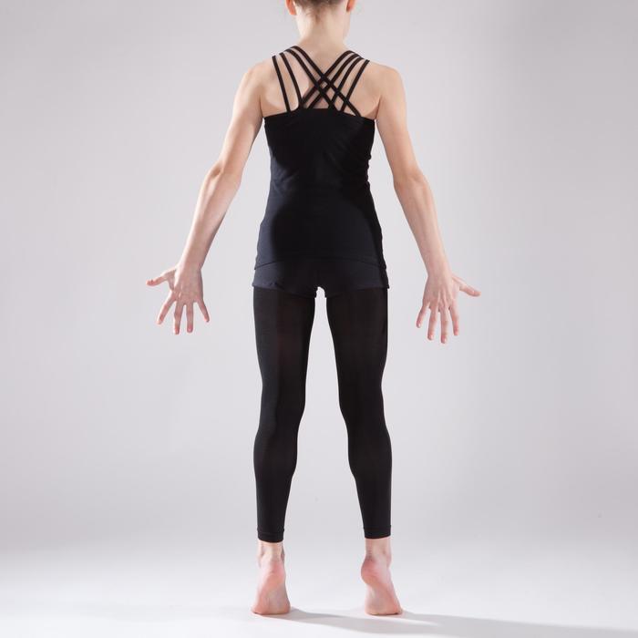 Tunique de danse à doubles bretelles fille noire - 1337649