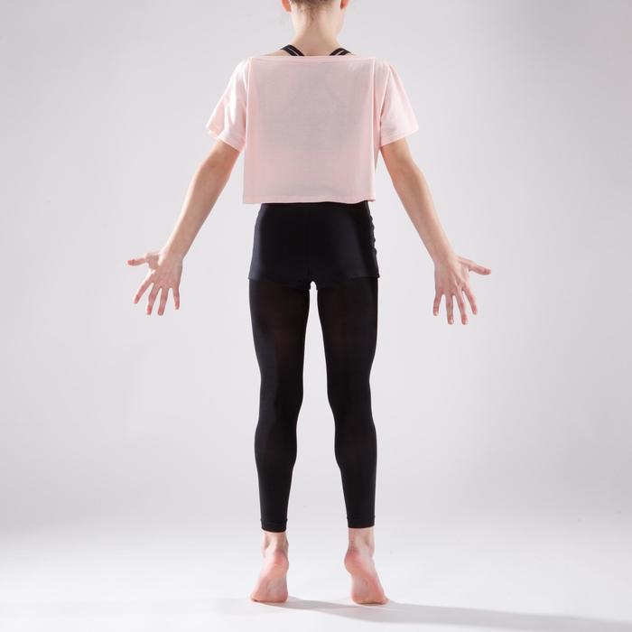 Kort en wijd dansshirt met korte mouwen voor meisjes lichtroze