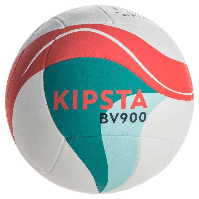 Ballon de beach-volley BV900 FIVB blanc vert et rouge - 1337672