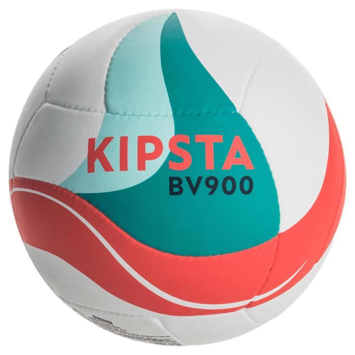 Ballon de beach-volley BV900 FIVB blanc vert et rouge - 1337673