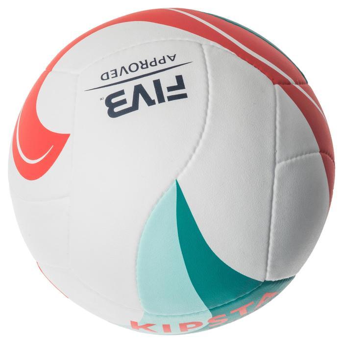 Ballon de beach-volley BV900 FIVB blanc vert et rouge - 1337675
