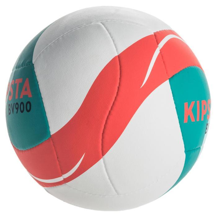 Ballon de beach-volley BV900 FIVB blanc vert et rouge - 1337678