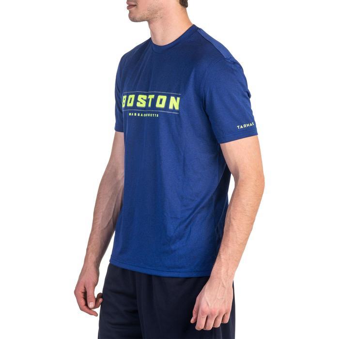 Basketbal T-shirt voor halfgevorderde heren Fast Boston blauw geel