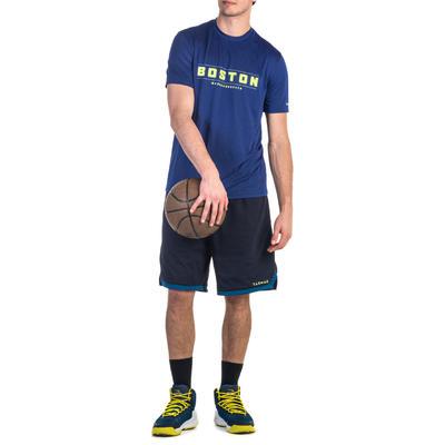 Fast Boston Intermediate Basketball T-Shirt - Blue/Yellow
