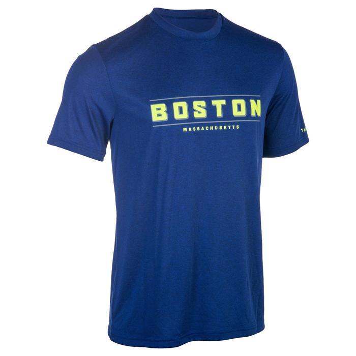 Basketballshirt Fast Boston Herren Fortgeschrittene blau/gelb