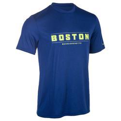 TEE SHIRT DE BASKETBALL HOMME CONFIRME FAST BOSTON BLEU JAUNE