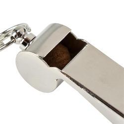 Scheidsrechtersfluitje metaal lichtgrijs - 133771