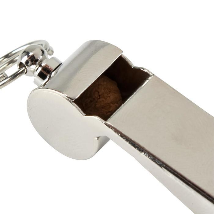 Scheidsrechters fluitje metaal lichtgrijs