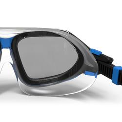 Schwimmmaske 500 Active Größe L schwarz/blau getönte Gläser