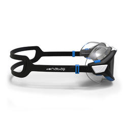 Masker Renang 500 ACTIVE ASIA, L, Hitam Biru, Lensa Asap