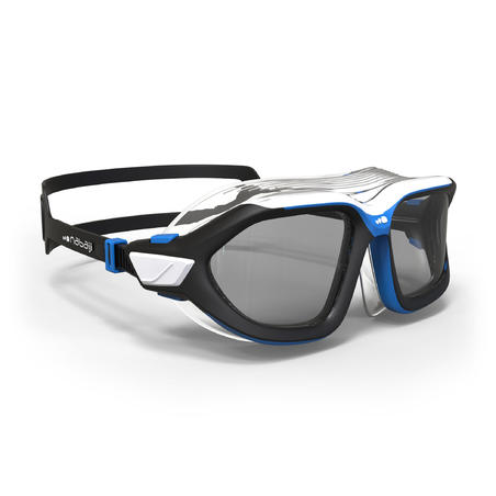 Active Asia Swimming Mask 500 L - Black Blue Smoke Lenses