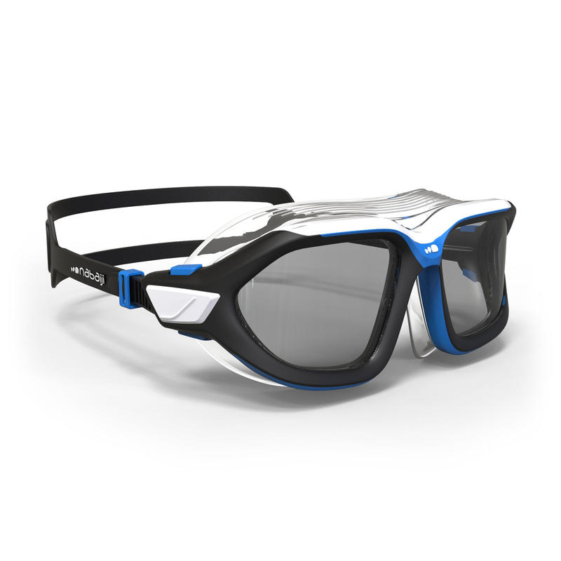Active Asia Swimming Mask 500 L - Black Blue Smoke Lenses