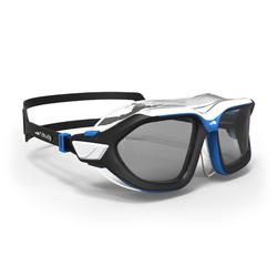 500 ACTIVE ASIA Swimming Mask, L, Black Blue, Smoke Lenses