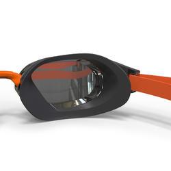Lunettes de natation 900 B-FAST Noir Orange verres fumés
