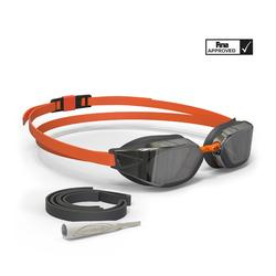 泳鏡900 B-FAST - 黑色/橘色,深色鏡片