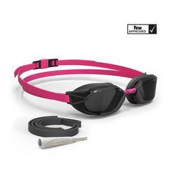 Gafas de natación 900 B-FAST Negro Rosa cristales ahumados